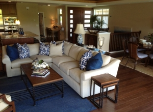 Hand Scraped Kukui Nut Living Room BFHSKU Compliments of Brookfield Homes